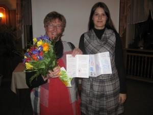Begegnungen & Emotionen - Eine Reise auf dem Jakobsweg - Angelika Müller (li.) mit Jane Dittrich, Vorsitzende des FU Gebietsverbandes Annaberg